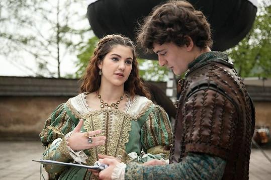 Takto si Celeste a Samuel povídali mezi záběry.