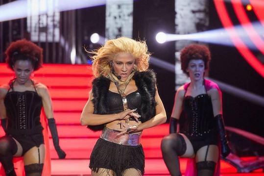 Eva jako Beyoncé u diváků bodovala.