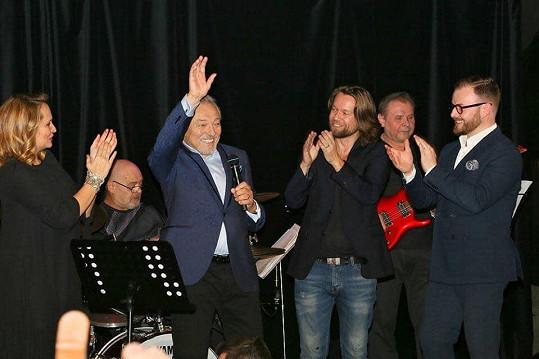 Na koncertu byli i Richard Krajčo a Jan Smigmator.