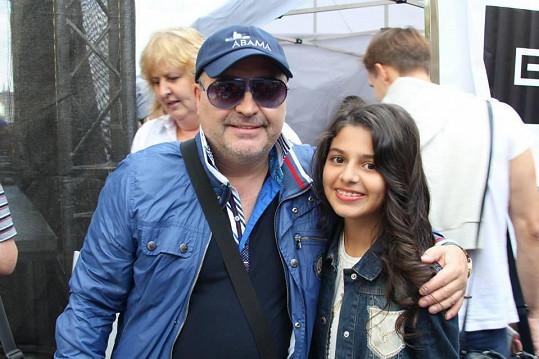 Diana byla s Michalem Davidem hlavní hvězdou akce Praha dětem.