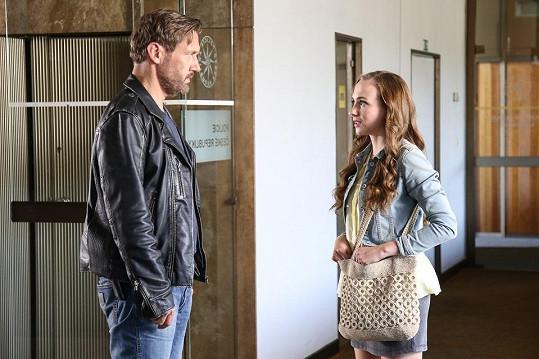 Elizaveta se svým seriálovým otcem Davidem Matáskem