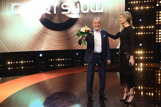 Karel Gott a Adela Banášová v Chart Show