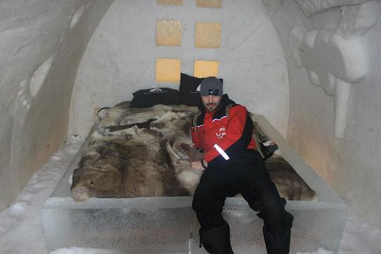 Václav Noid Bárta si užívá týden v Laponsku.