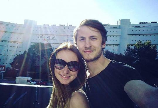 Martin s přítelkyní Monikou