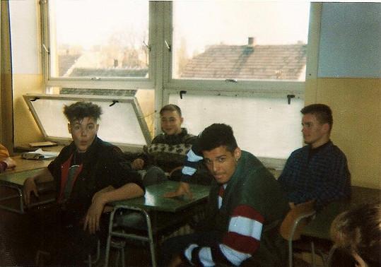 Rytmus (v popředí) zavzpomínal na školní léta.
