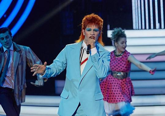 David Kraus jako David Bowie
