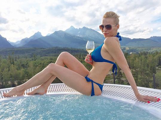 Hana Mašlíková se pochlubila fotkou v plavkách.