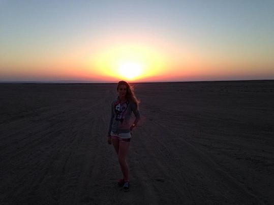 Sabina při západu slunce.