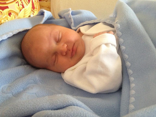 Quentin Kokta krátce po narození