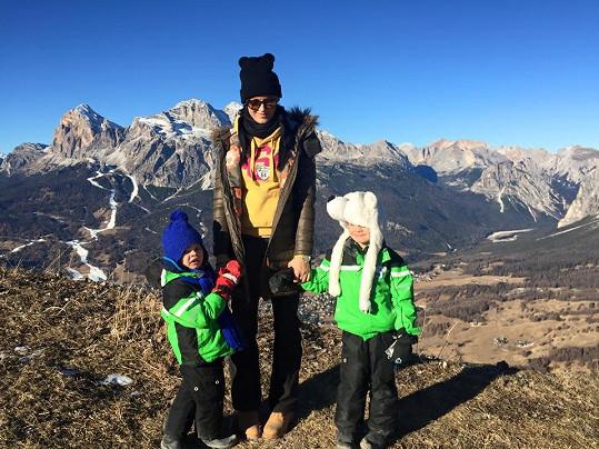 Michaela Salačová vyrazila s dětmi do Cortine v Itálii.
