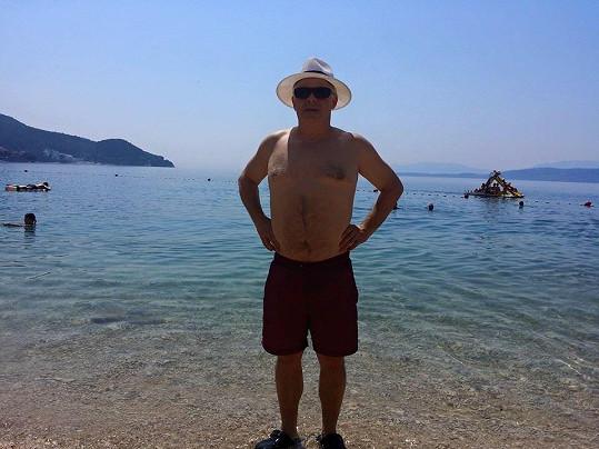 Bob Klepl odpočívá na dovolené v Chorvatsku.