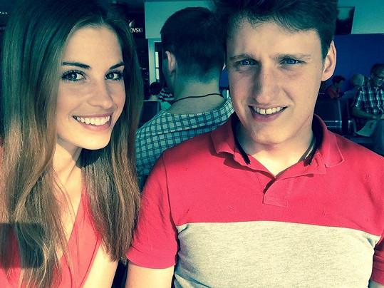 Tereza s přítelem Michalem Voborským