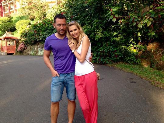 Sandra Parmová a Michal Janotka si užívali dovolenou na Srí Lance.