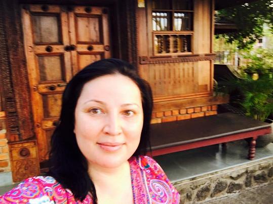 Ivana Christová relaxovala v Indii.