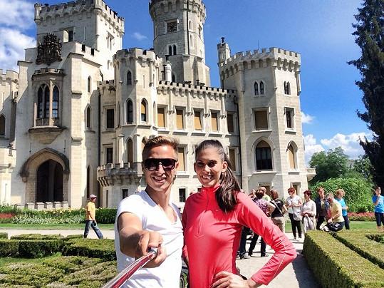 Byli i v Hluboké na zámku.