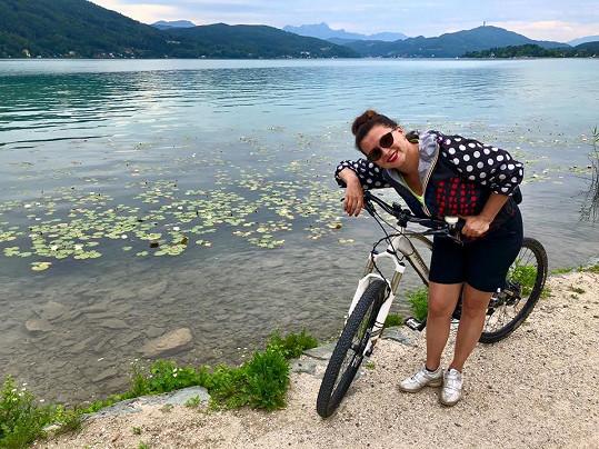 Jižní Rakousko projela Dana s manželem na kole.
