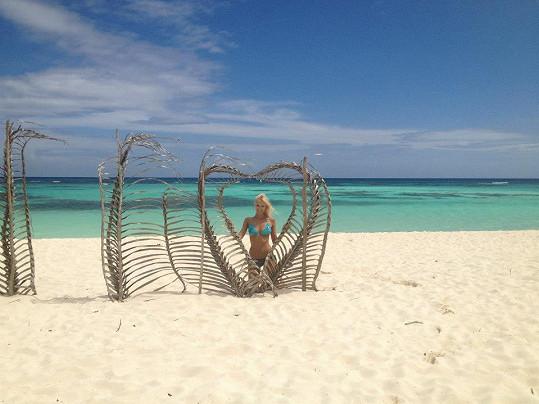 Edita na pláži
