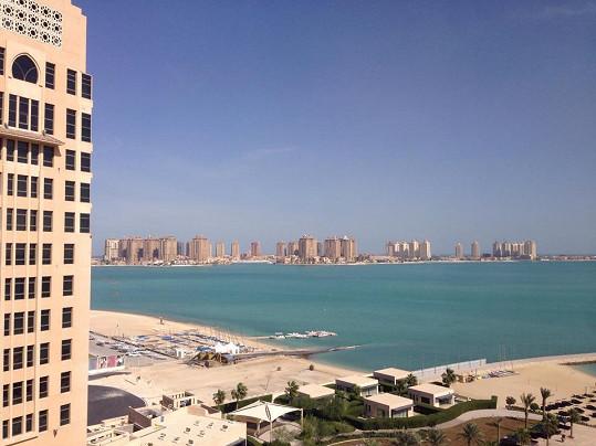Ewin výhled z hotelového pokoje
