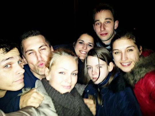 Tereza Fajksová slavila silvestra s přáteli.