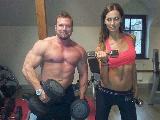 Eliška se svým trenérem Markem Vomáčkou