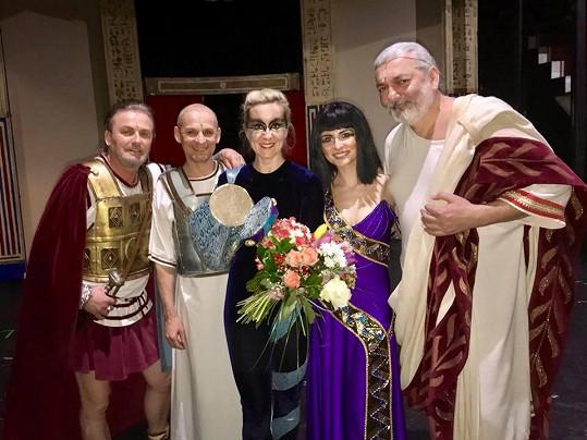 Jovanka se vrátila do muzikálu Kleopatra na pár představení.
