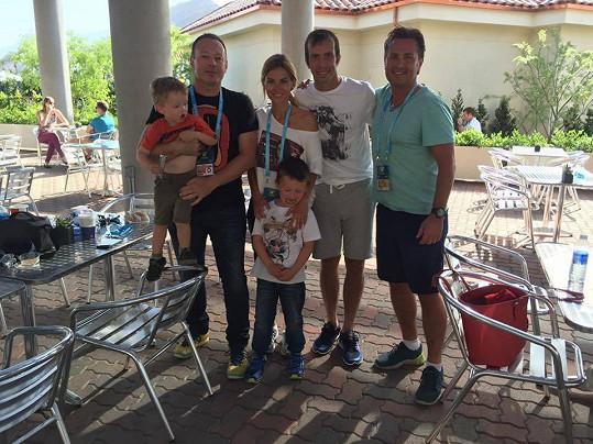 Společné foto na turnaji v Indian Wells