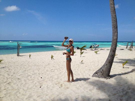 Bílé pláže Karibiku jsou nádherné.