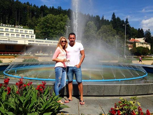 Michal Janotka a Sandra Parmová si užívali chvilek volna v Luhačovicích.