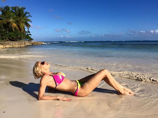 Hana Mašlíková si užívá dovolenou v Dominikánské republice.