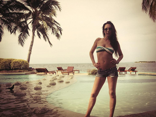 Agáta Hanychová si užívá dovolenou na Maledivách.