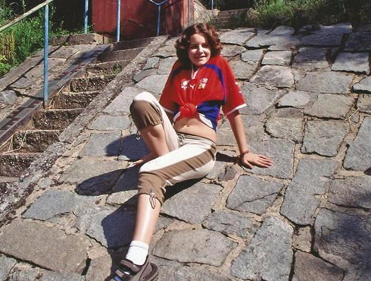 Tereza Chlebovská coby třináctiletá dívčina