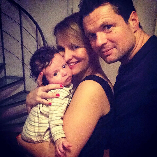 Monika Absolonová má krásnou rodinku.