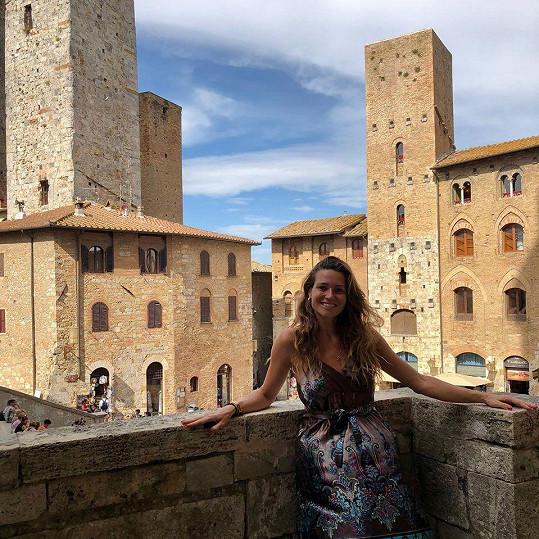 Ze středověkého města San Gimignano byla nadšená.
