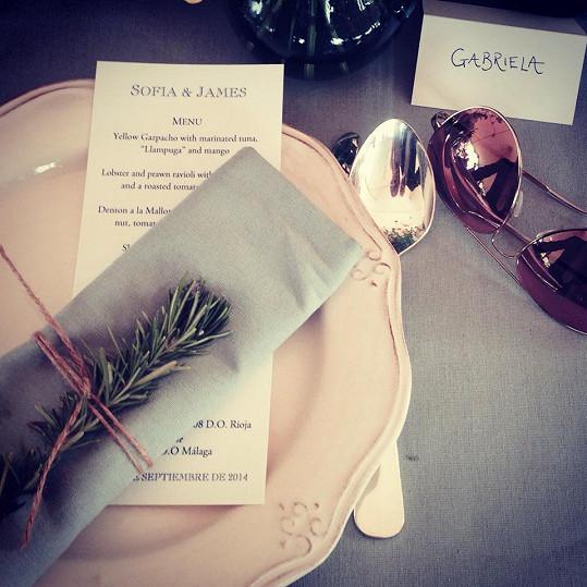 Takhle vypadalo svatební menu.