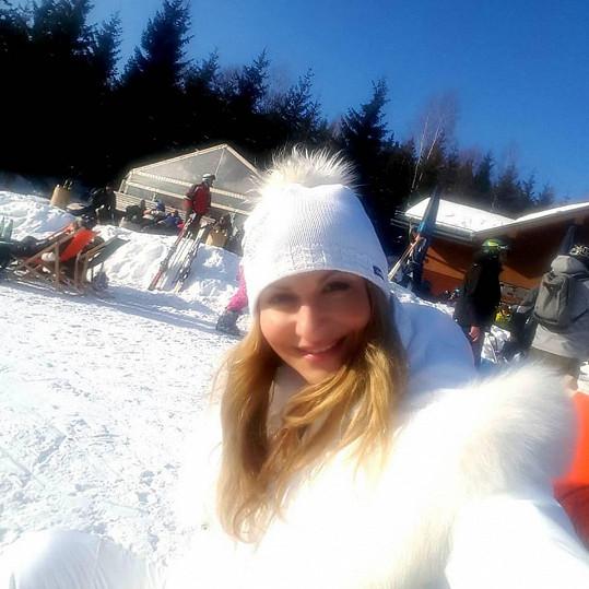 Yvetta strávila na horách aspoň prodloužený víkend.