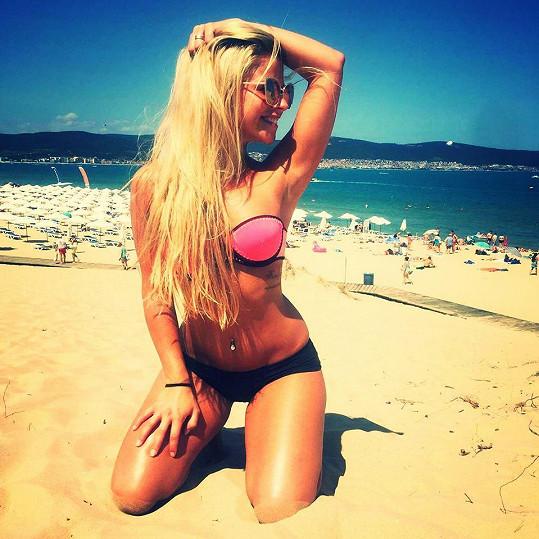 Markéta si užívala sluníčka na bulharských plážích.