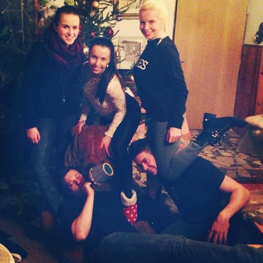 Kateřina Kristelová měla Vánoce v Táboře s rodinou.