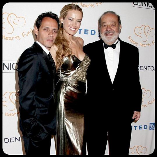 Na galavečeru pořádaném na pomoc Mexiku nechyběl ani latino zpěvák Marc Anthony.