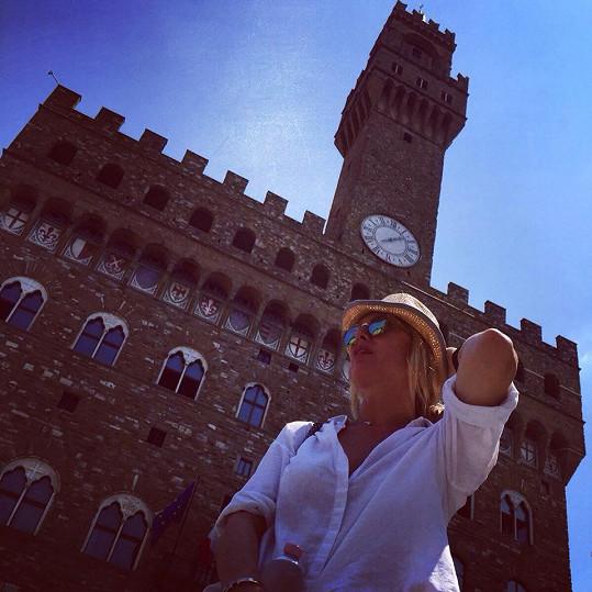 Nedávno byla ve Florencii.
