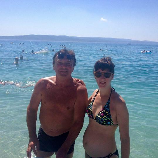 S Pavlem Trávníčkem si užívá na dovolené v Chorvatsku.