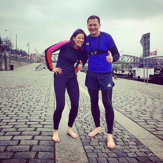 S běžkyní Danou Šatrovou, s níž moderoval televizní pořad Tempo.