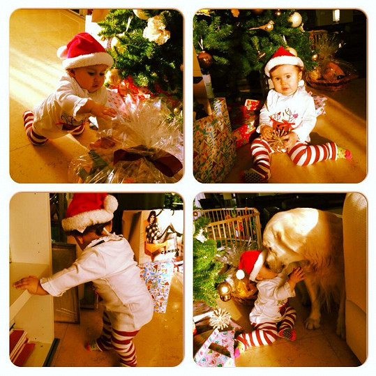Dcera Zuzany Rosákové Lili si poprvé užila Vánoce.