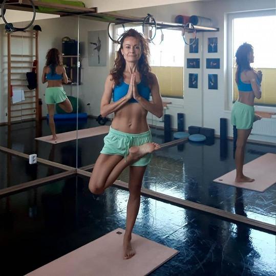 Leona Qaša Kvasnicová cvičí každý den.