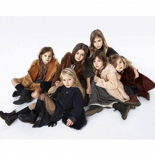 Dětskou kampaň nafotilo šest holčiček.