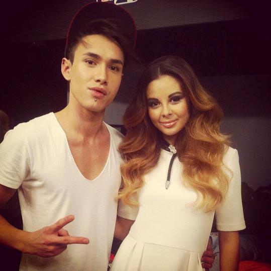 Monika a její slovenský kadeřník Mário Nguyen.