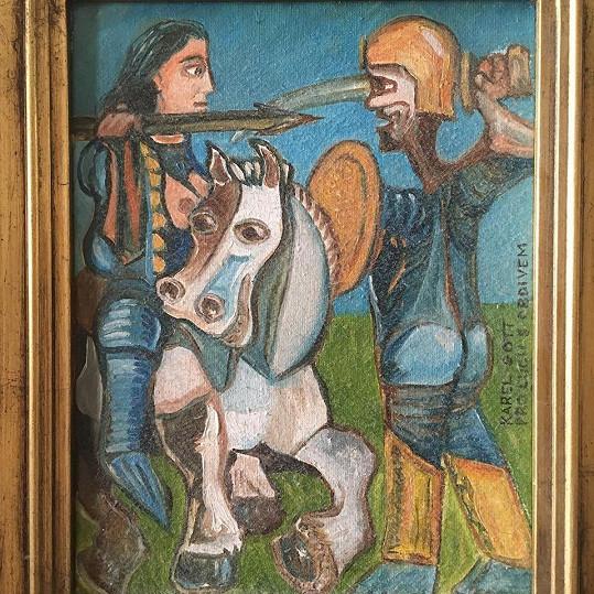 Zpěvačka ukázala obraz od Karla Gotta.