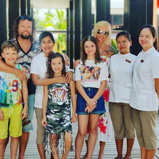 Poslední rodinná dovolená byla na Maledivách.