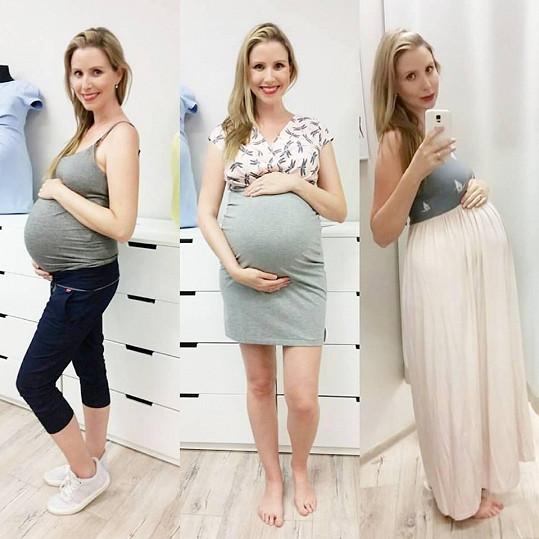 Takhle vypadala Tereza v těhotenství.