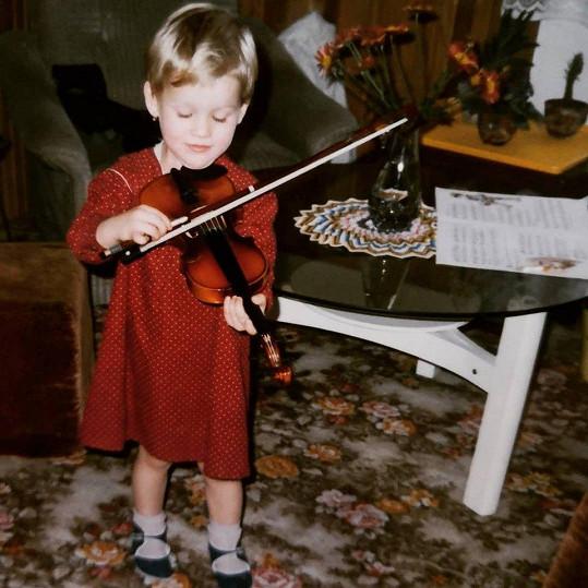 Míša se pochlubila fotkou, když jí bylo pět let.