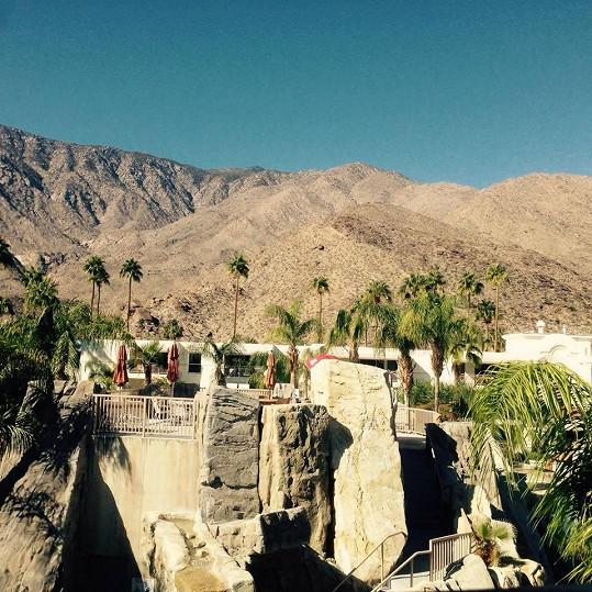Navštívil i Palm Springs.